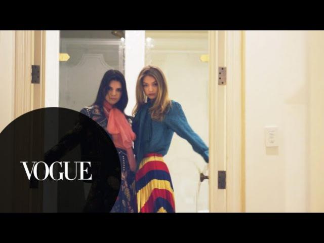Kendall Jenner Gigi Hadid Kim Kardashian West Do NYFW and Burgers Vogue
