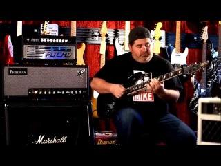 Caparison Dellinger II M3 guitar into Friedman Steve Stevens