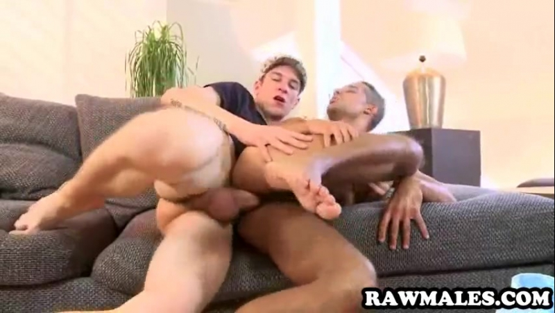Uncut stud getting his tight ass fucked hard
