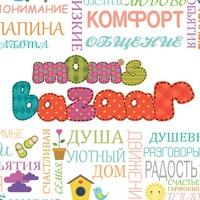 Логотип Mom's Bazaar. Большое семейное событие