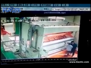 Man pulled into paper machine and killed in an instant
