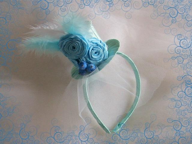 Нежная шляпка для юной модницы Крученая роза DIY Tutorial