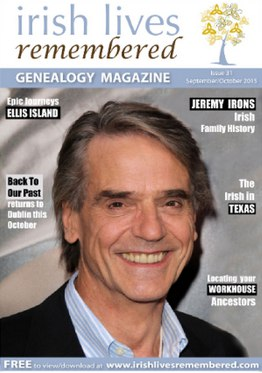 Irish Lives Remembered Jeremy Irons Issue 31 September October 2015