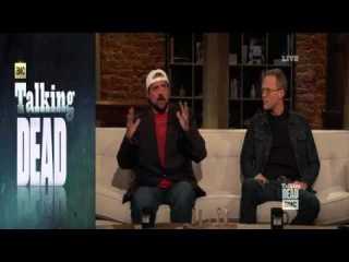 Talking Dead S05E02 Kevin Smith, Paul Bettany and Katelyn Nacon