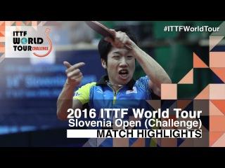 2016 Slovenia Open Highlights: Jun Mizutani vs Yuto Muramatsu (1/4)