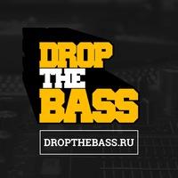 Логотип DROP THE BASS - drum and bass, dubstep, bass