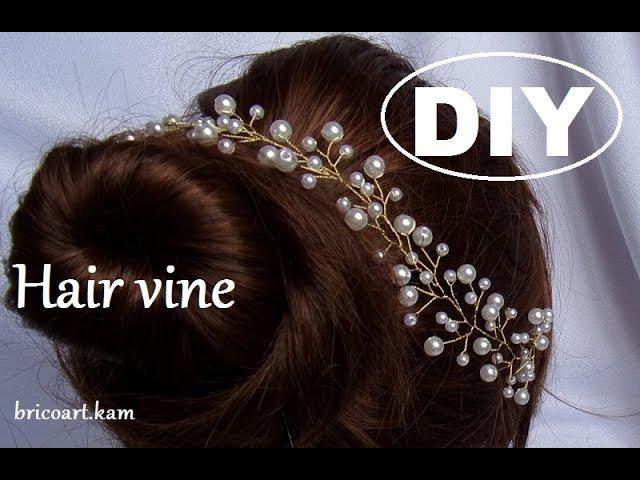DIY Tutoriel facile Vigne de cheveux pour mariée Bridal hair vine