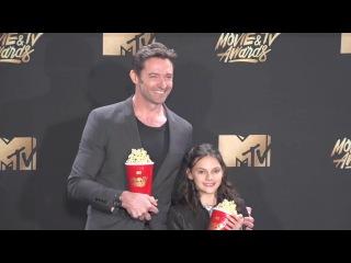 Hugh Jackman and Dafne Keen 2017 MTV Movie and TV Awards