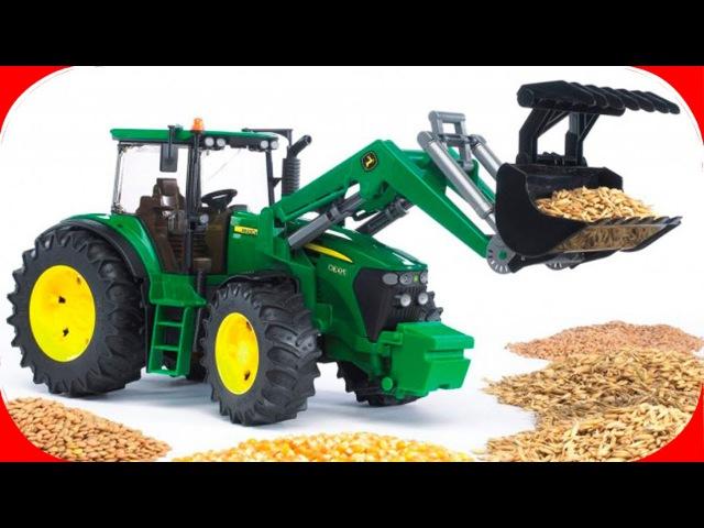 Pracowity Traktorki Praca na Farmie Agricultural Machinery Bajki dla dzieci