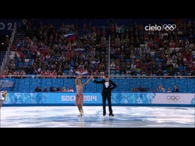 Elena Ilinykh Nikita Katsalapov SD Olimpiadi di Sochi 2014
