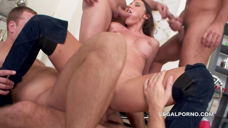 Perfect DAP with Julie Skyhigh. 9 DAP position, no pussy, no anal and 3 swallows. First prolapse  Gapes GIO132