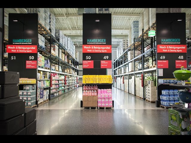 Hamberger Hypermarket in Berlin with Modern Expo Retail Solutions
