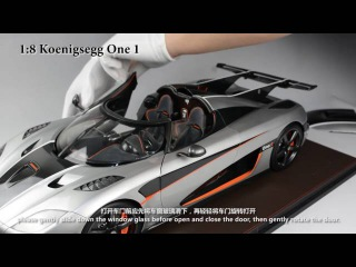 Koenigsegg One:1 with 1:8 scale Frontiart model co., ltd