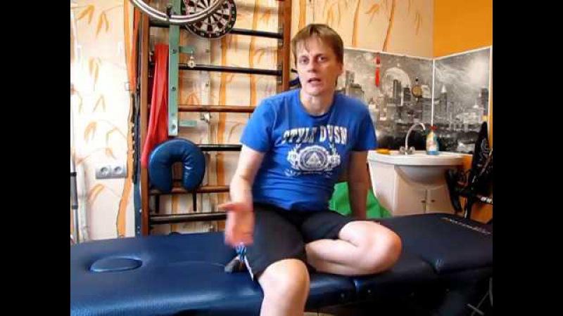 Проблемы с ногой после инсульта. Сгибание в колене Leg problems after a stroke. Knee flexion