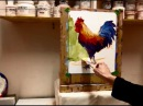 Expressive Acrylic Painting with Patti Mollica - Lesson 2, Bold Colorful Rooster Demo