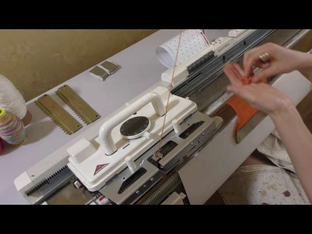 Основы вязания ажурной кареткой LC2 для Silver Reed SK280