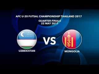 #AFCU20FC THAILAND 2017 - M49 Uzbekistan vs Mongolia - Video News