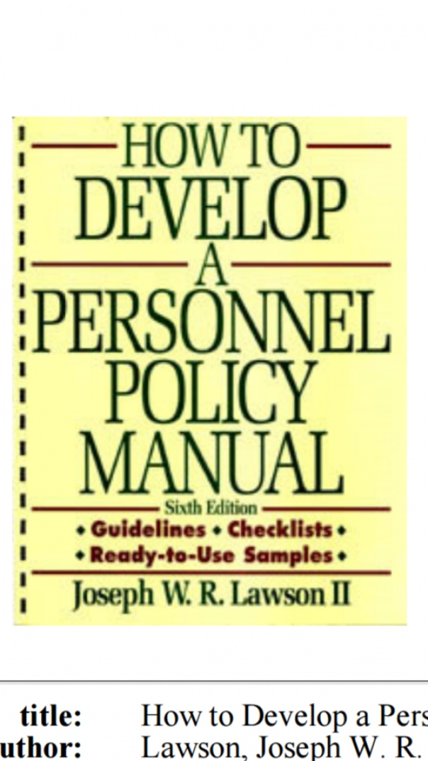 How to Develop a Personnel policy