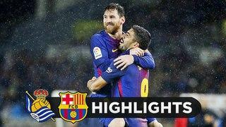 Real Sociedad vs Barcelona 2-4 - All Goals & Highlights - 14/1/2018 HD