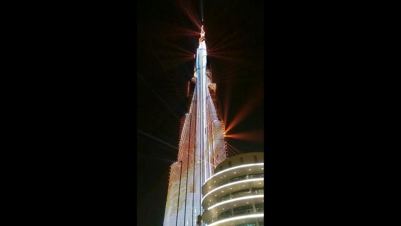 Лазерное шоу в Дубае Бурдж Халифа