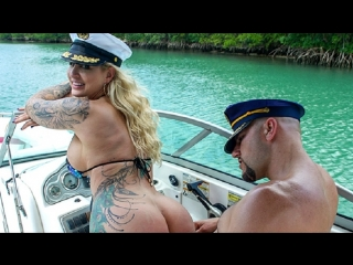 Ryan conner gets a creampie by the pool / big tits creampie