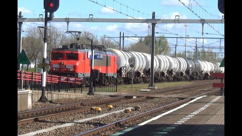DB 1615 met keteltrein SLT 2406 2422 - Station Lage Zwaluwe