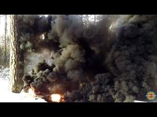 РДГ-2Ч супер мощная дымовуха | Как поджечь военные дымовые шашки рдг | Чёрный армейский дым граната