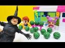 Kızoyuncakları Cadı Pinypon şehirine büyülü karpuz gönderiyor çizgifilmoyuncakları