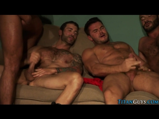 Bear, daddy and hunk enjoy orgies total of twitching bods