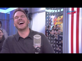 Chris Pratt talks about Jennifer Lawrence in Russian radio Europe +