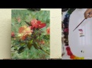 Paint Peach Roses Trust 10x8 Fast Motion w Voice Instruction
