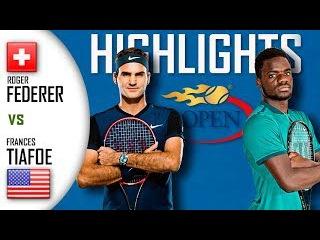 Roger Federer vs Frances Tiafoe (HD Highlights) US Open 2017