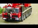 Awesome RC truck crane, excavator crane! special 20min! CATERPILLAR! LIEBHERR! ATLAS! DEMAG! DEERE