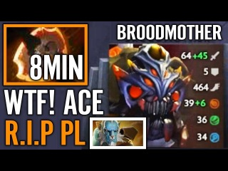 8Min BF ACE Broodmother Battle Fury Counter PL So EAsy Dota 2 Pro Gameplay