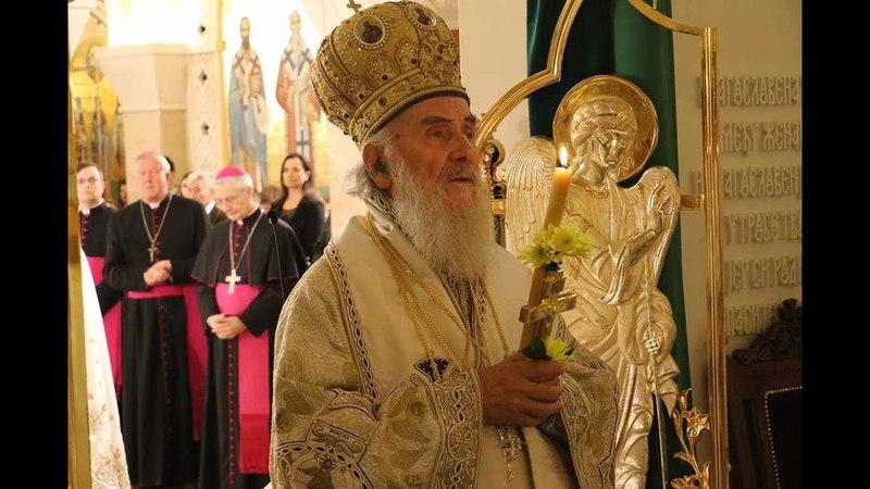 Патријарх Иринеј служио Васкршњу Литургију у Храму Светог Саве Мир Божији Христос Васкрсе