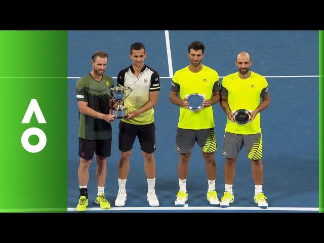 Marach Pavic Men's Doubles ceremony Australian Open 2018