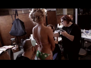 Golf Star Natalie Gulbis Goes Completely Bare Wearing Only Body Paint _ Sports I