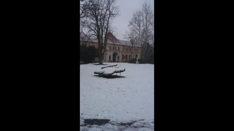 Прогулка в центре г. Пьештяни, Словакия