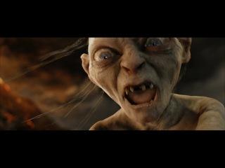 Саурон обращается к Арагорну. Голлум нападает на хоббитов. Гэндальф призывает орлов. HD