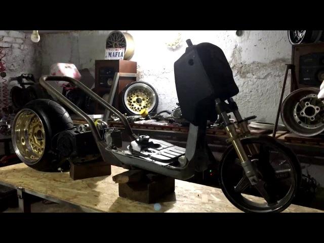 Постройка Rucksters customs gy6 210cc на базе Рукуса Ruckus Zoomer home made