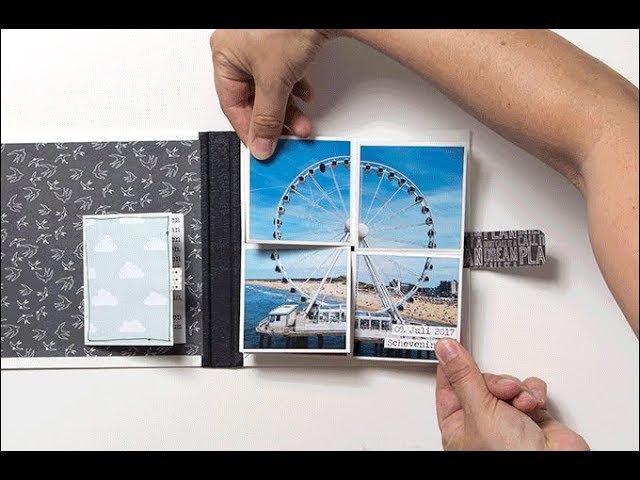 Minibook mit Pop-Up-Funktion - Tutorial der Minialbum-Werkstatt