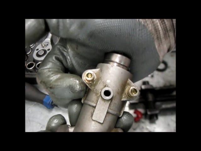 Ремонт редуктора бензокосы замена шестеренок Repair of gearbox of brush cutter