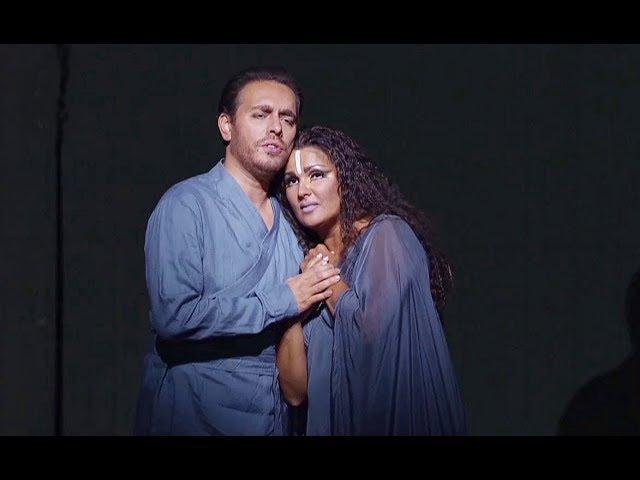 A Netrebko F Meli✮♫ La fatal pietra sovra me si chiuse Finalszene 'Aida'