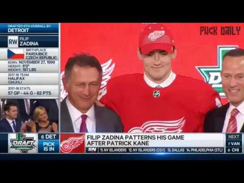 Filip Zadina Selected 6th Overall By Red Wings 2018 NHL Draft
