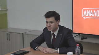60 сек_Нижнеудинск_ Встреча молодежи с зам министра по молодежной политике Ирк обл А. С.  Мироновым.