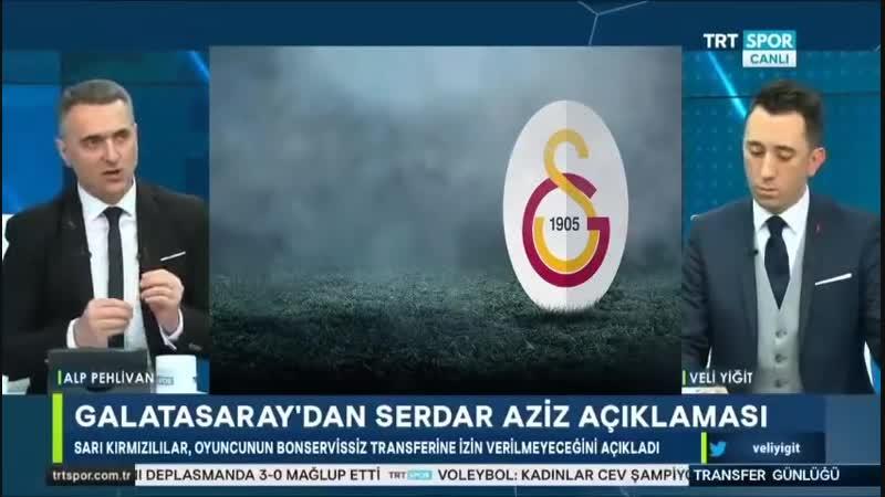 Galatasaray Transfer Günlüğü Veli Yiğit Alp Pehlivan Trtspor 24 Ocak