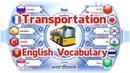Ders Ulaştırma Modları Resimlerle İngilizce Kelime Tercümanı Kelime Kitabı