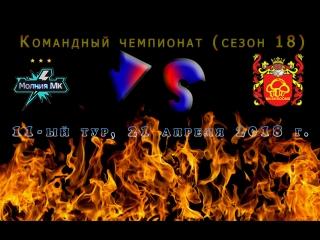 """Чемпионат (18-ый сезон), 11-ый тур: .: """"Молния Мk"""" ~ """"Грибы"""" (только 1-ый тайм)"""