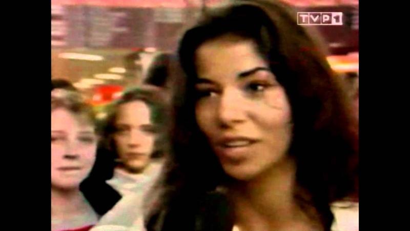 TVP1 / 23.04.1994 / Lotnisko Okęcie / Edyta Górniak w drodze na Eurowizję
