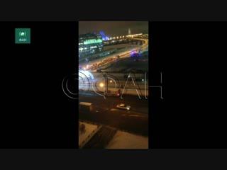 Сильное задымление произошло в петербургском трк «питерлэнд»